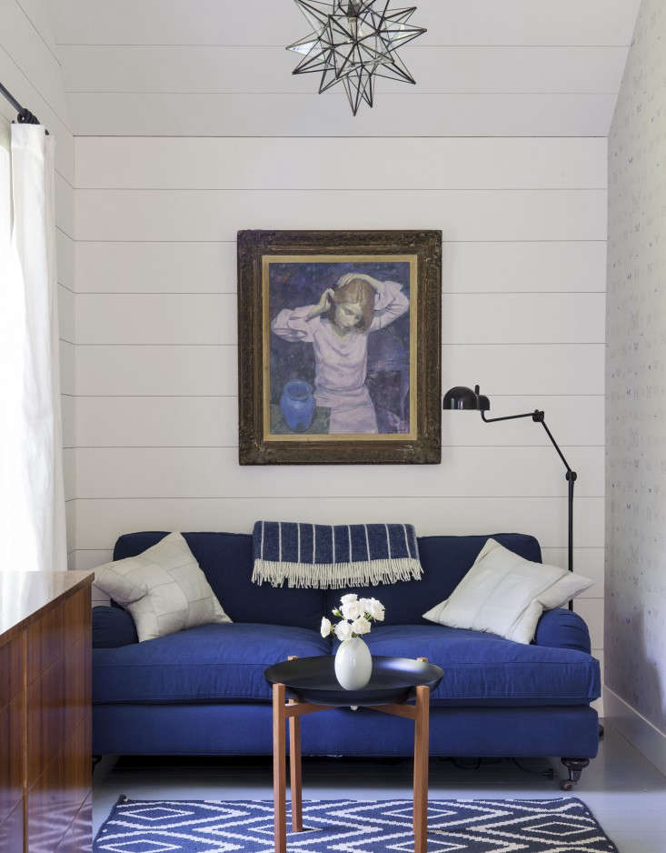 Another fromRhapsody in Blue: A Finnish Stylist at Home in the Hamptons: hints of Yves Klein.