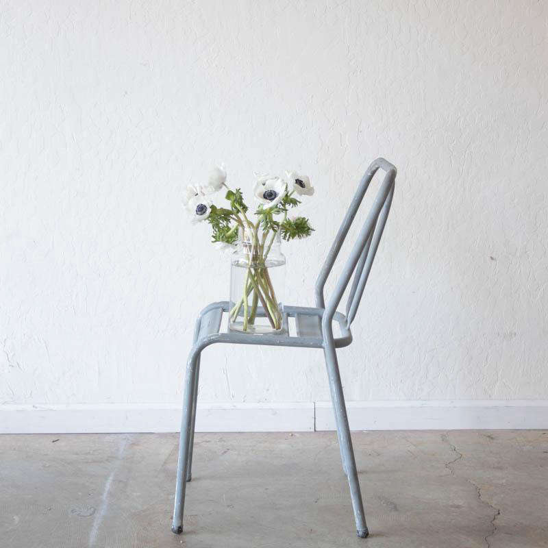 A Vintage Grey Bistro Chair, found in France and available via Elsie Green.