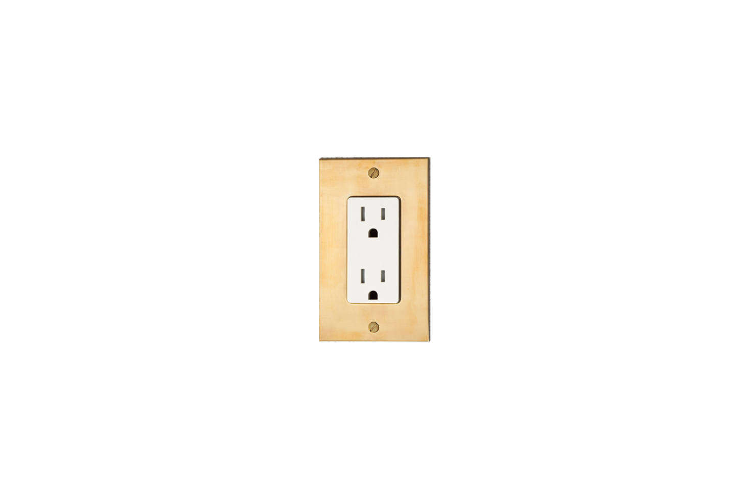 Unlacquered Brass Electrical Outlets can be found at Forbes & Lomax.