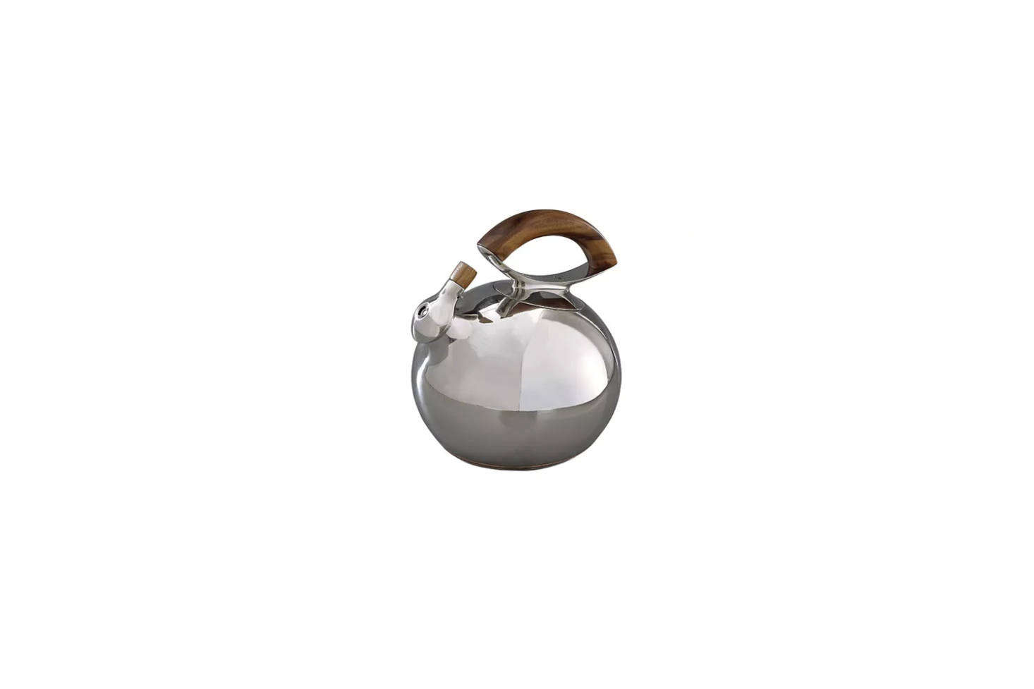 The Nambé Gourmet Bulbo Tea Kettle with a wood handle is on sale for $5 at Macy&#8
