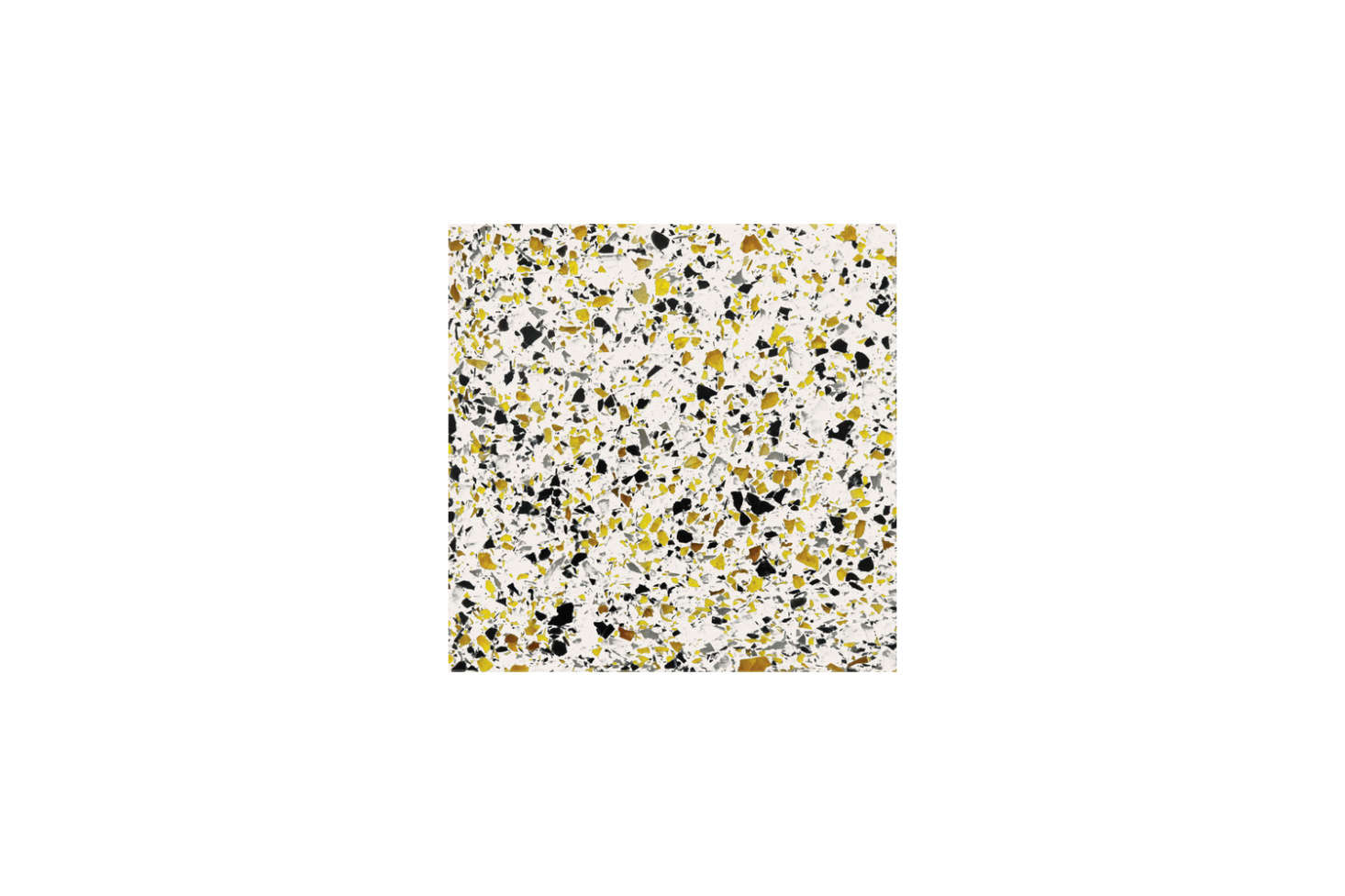 The countertop, backsplash, and integrated sink are all made with terrazzo cast with recycled glass with colors individually selected by Yun and August. For something similar, Wausau Tile&#8