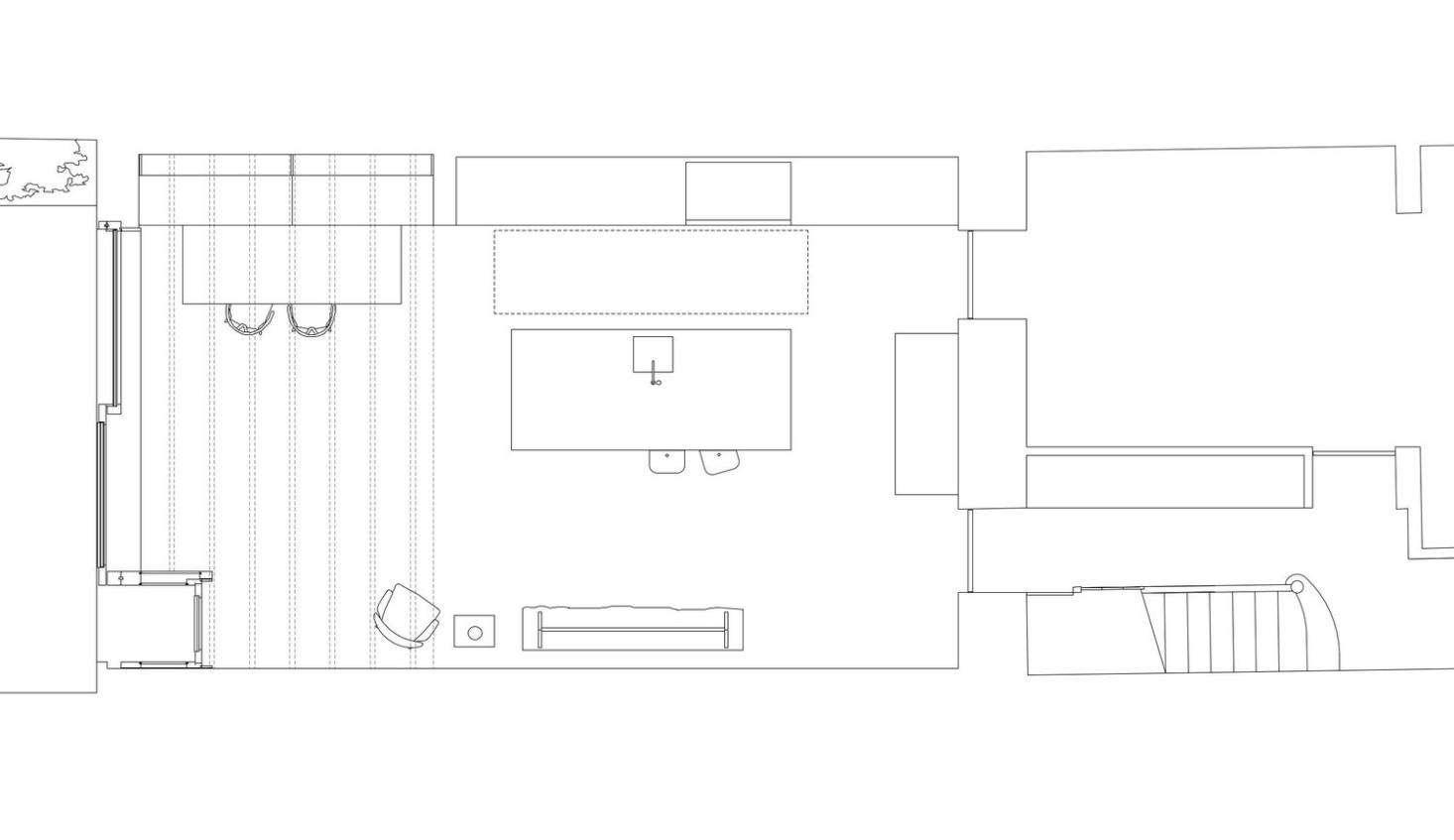 The floor plan of the Victorian&#8