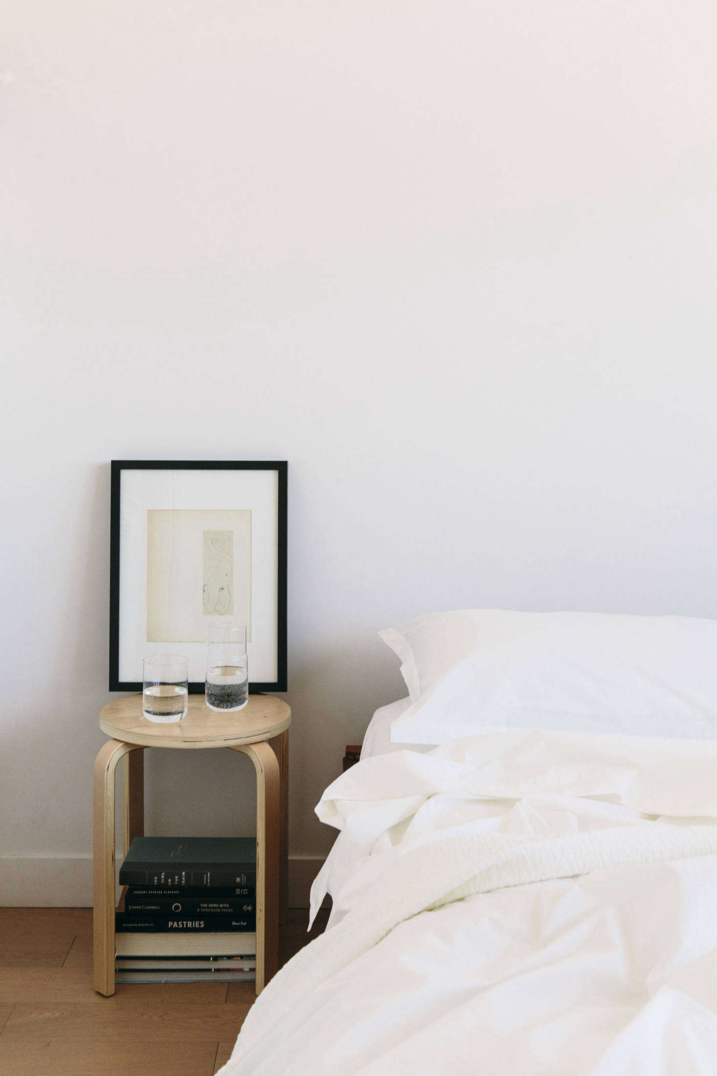 The sheets stand up to sleep as well as hours in bed spent writing—and reading.