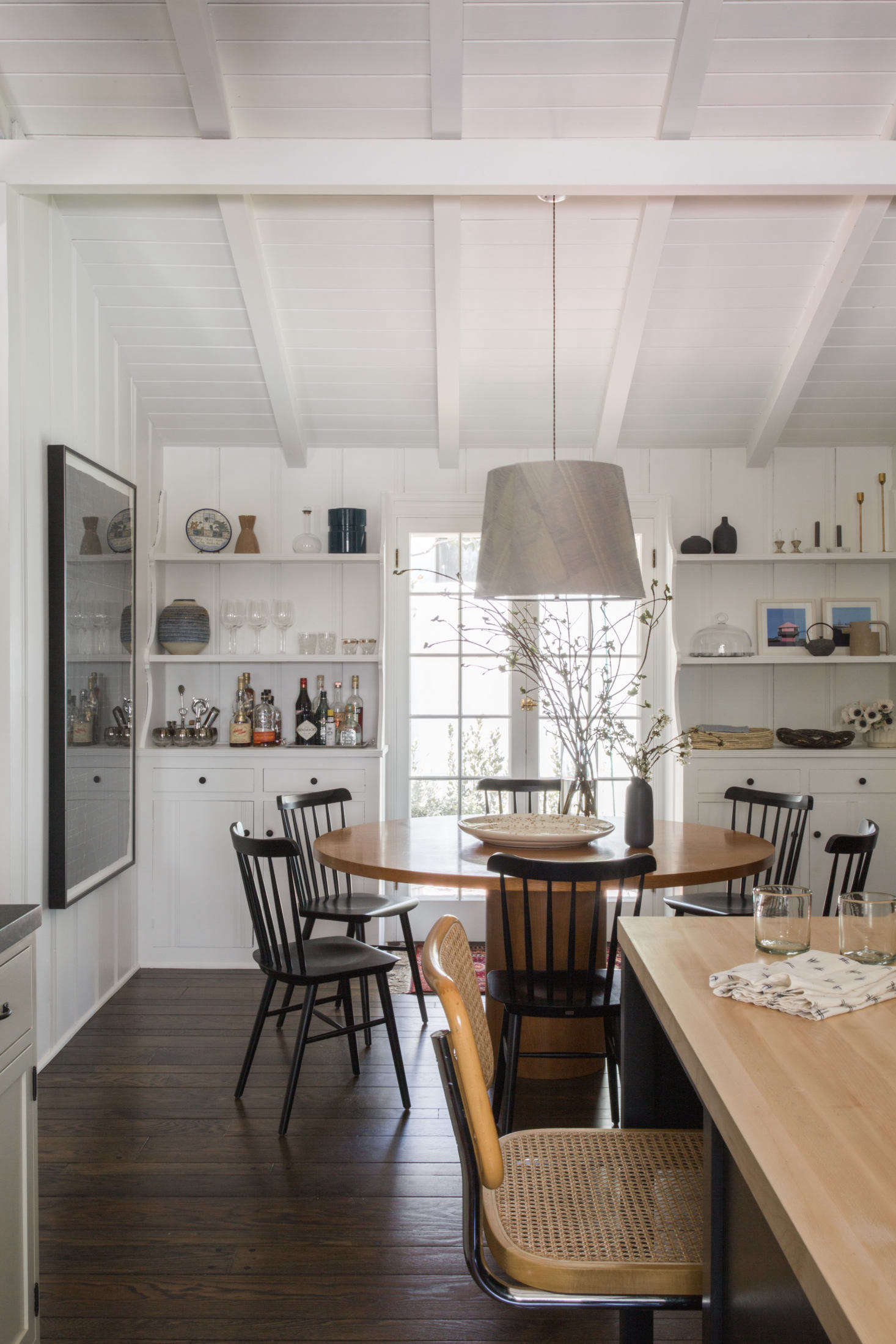 In the dining area: a custom table (saved &#8