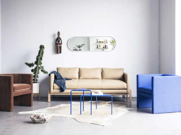 Truss Apartment Sofa – Buff Leather