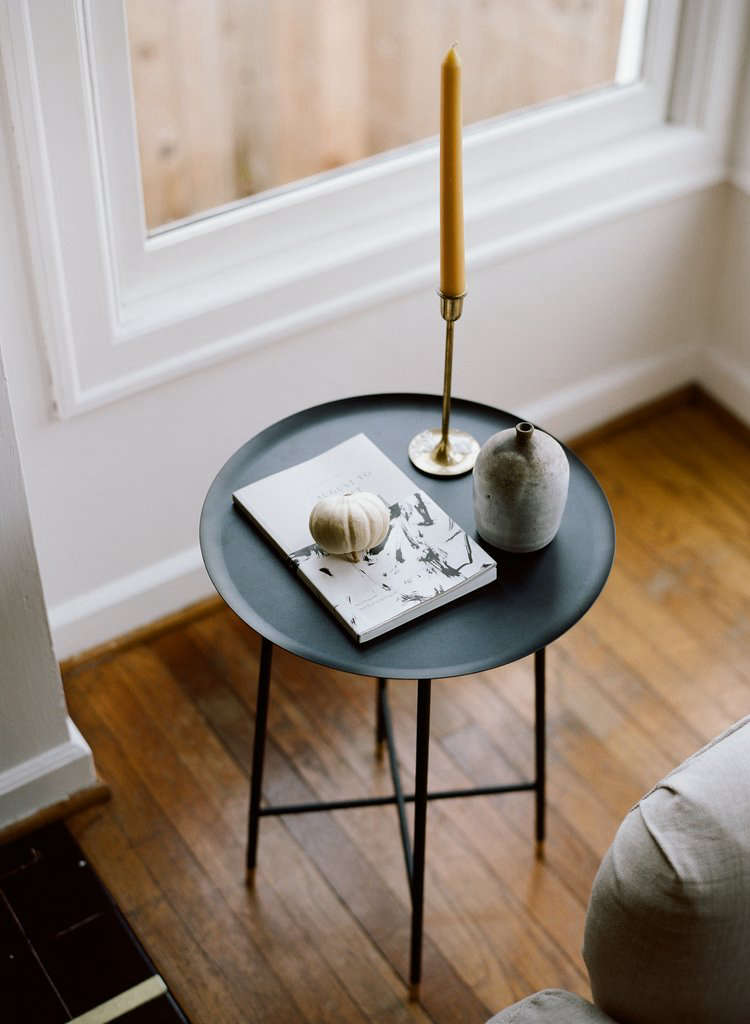 Charmant The Tap Side Table Is 22 Inches Tall And Stands On Four Slim Legs Of Powder