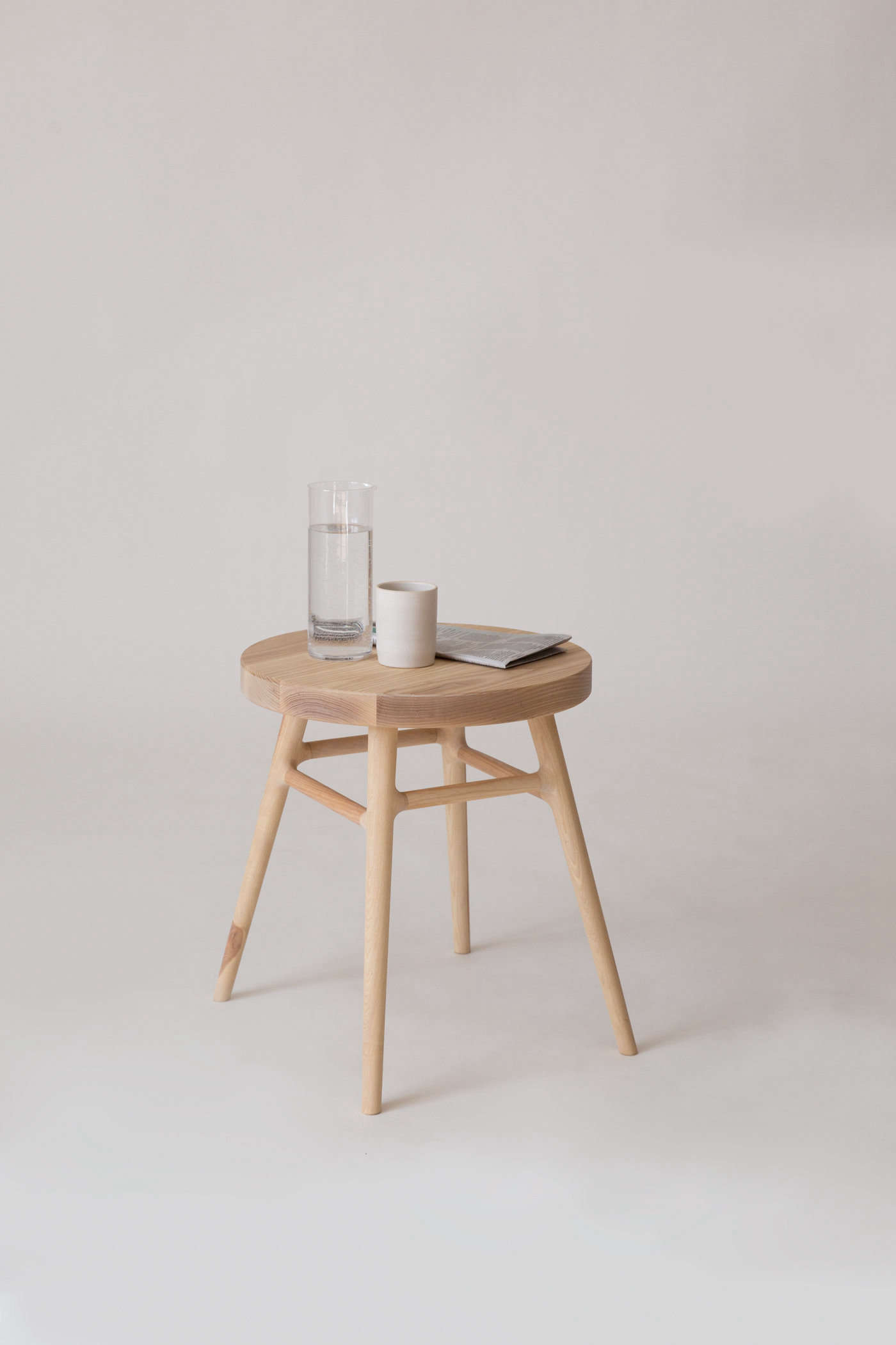 The Bough Stool makes for a sleek end seat or side table. It's $950 and measures 18 inches high.