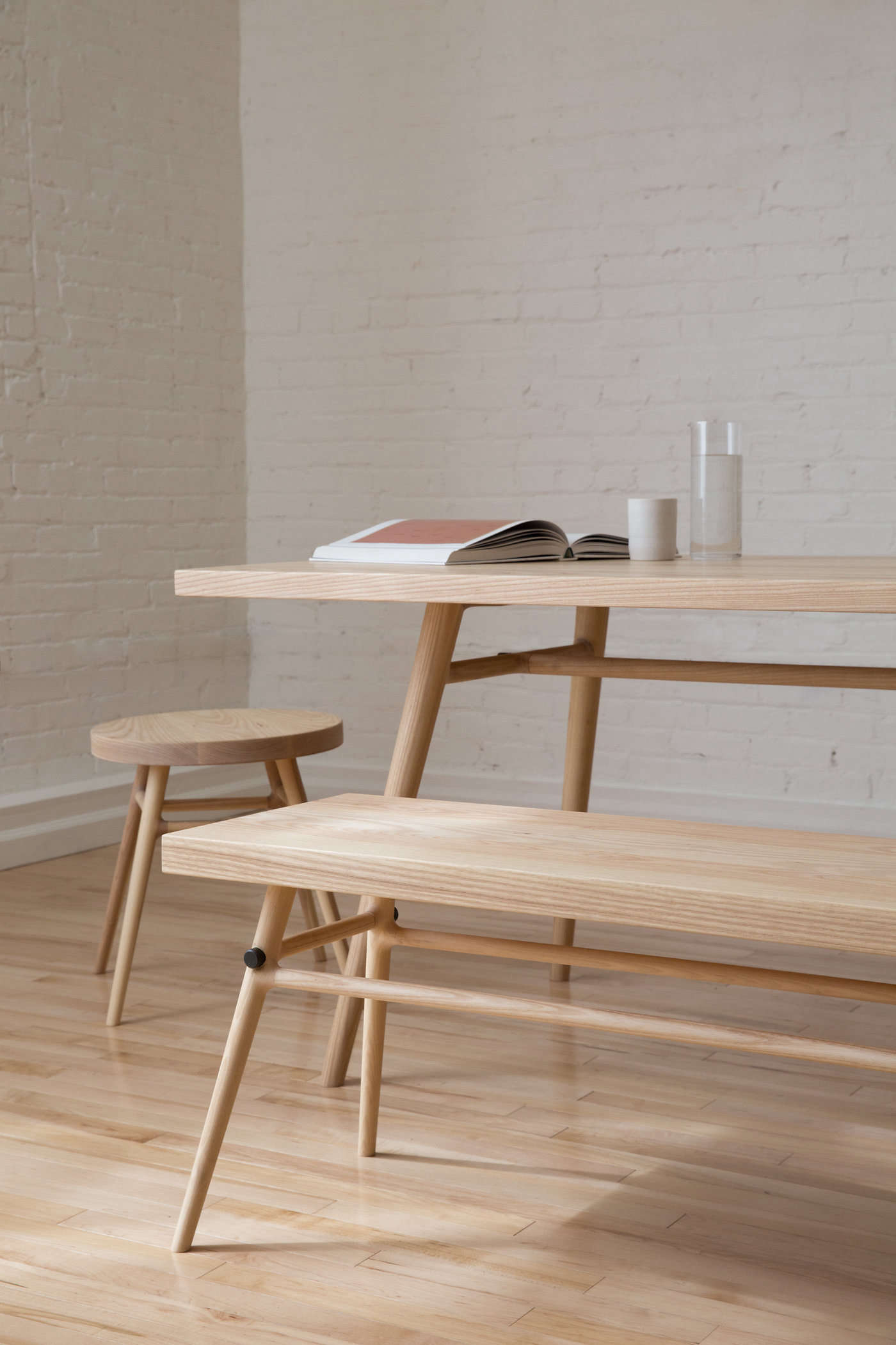 Japanese Inspired Furniture With Before Designing The Collection Simmering And Pauwen First Fell In Love With Materials Slow Designed Sustainble Furniture By Labased Kalon Studios