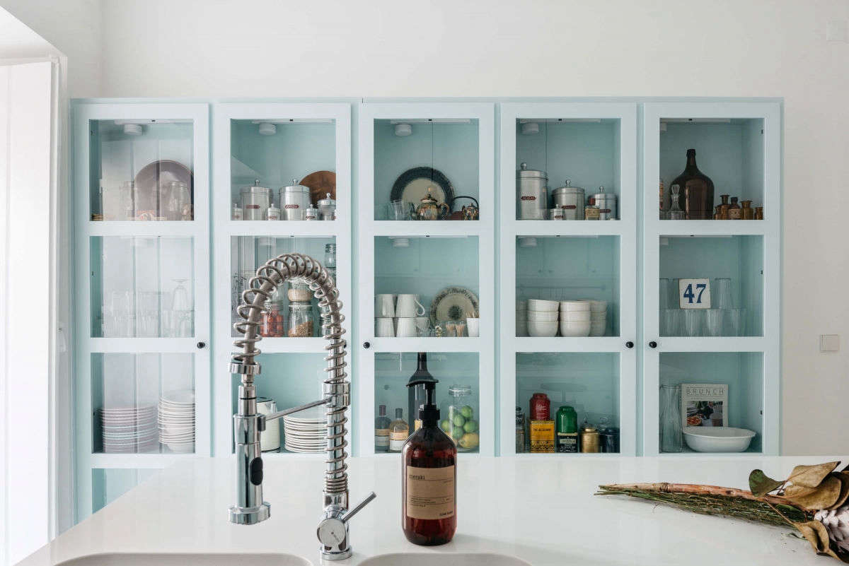 Kitchen of the Week: A Serene Space in Pale Blue at Casa C\'Alma in ...