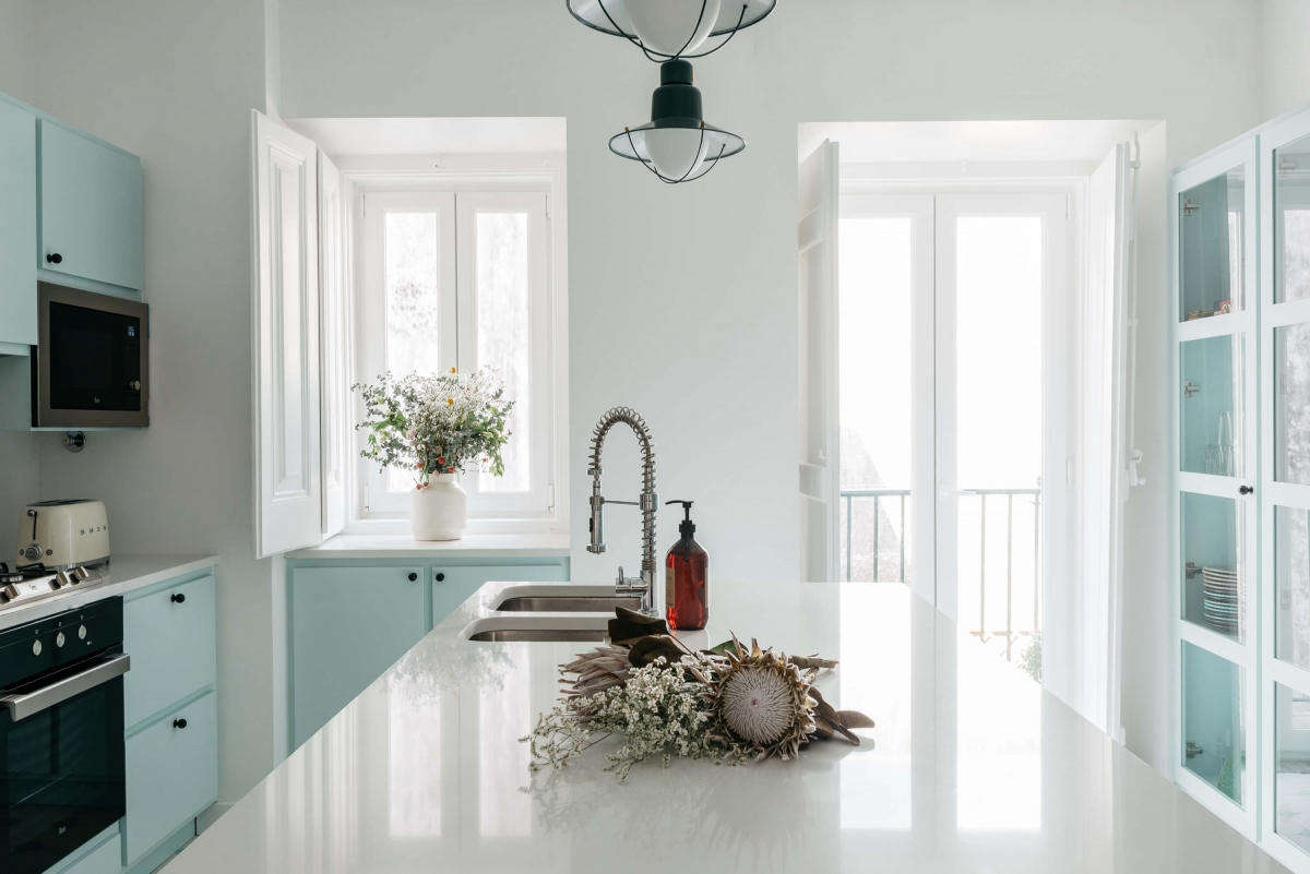 Kitchen of the week a serene space in pale blue at casa calma in