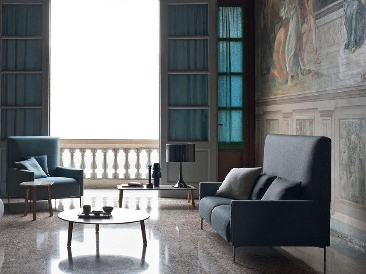 Designed by Claesson Koivisto Rune for Tacchini, the Highlife Sofa comes in sizes ranging from armchair (seen at left) to an 8-foot-long sofa. The sofa comes in a wide range of upholstery and has hand-stitched buttons at the front armrest; $4,037 at Design Public. (In the EU you can source the sofa at Modernists.)
