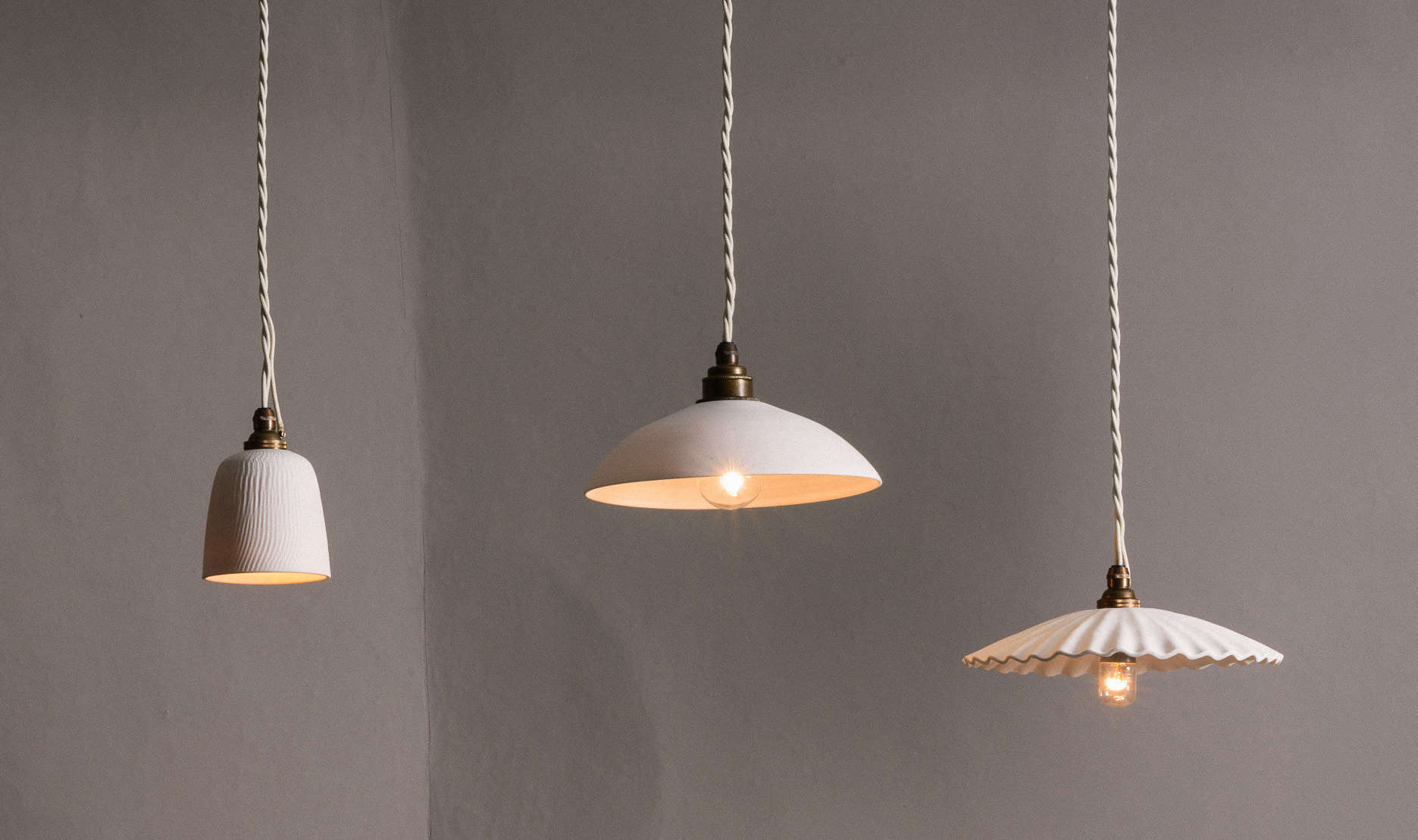 New From Devol A Nyc Showroom And Porcelain Pendant Lights