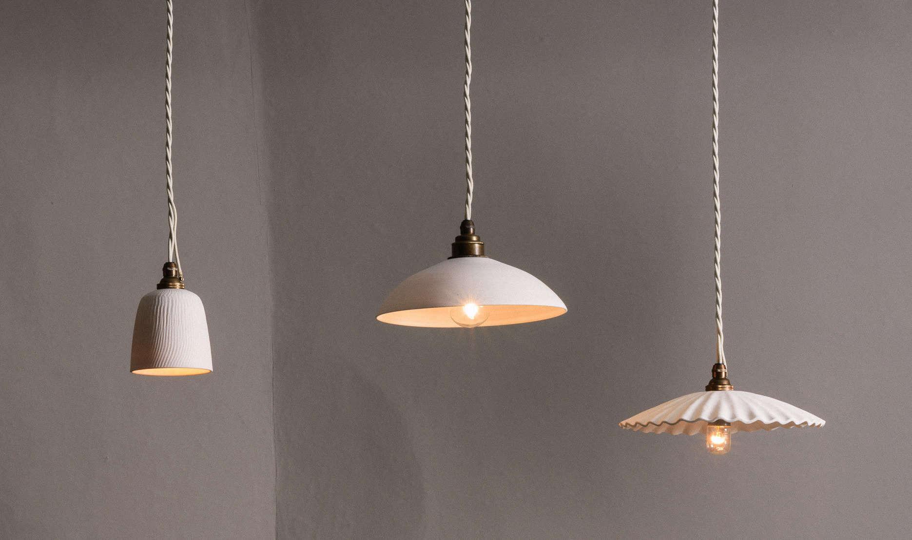 porcelain lighting translucent new from devol porcelain pendant lights handmade in england remodelista