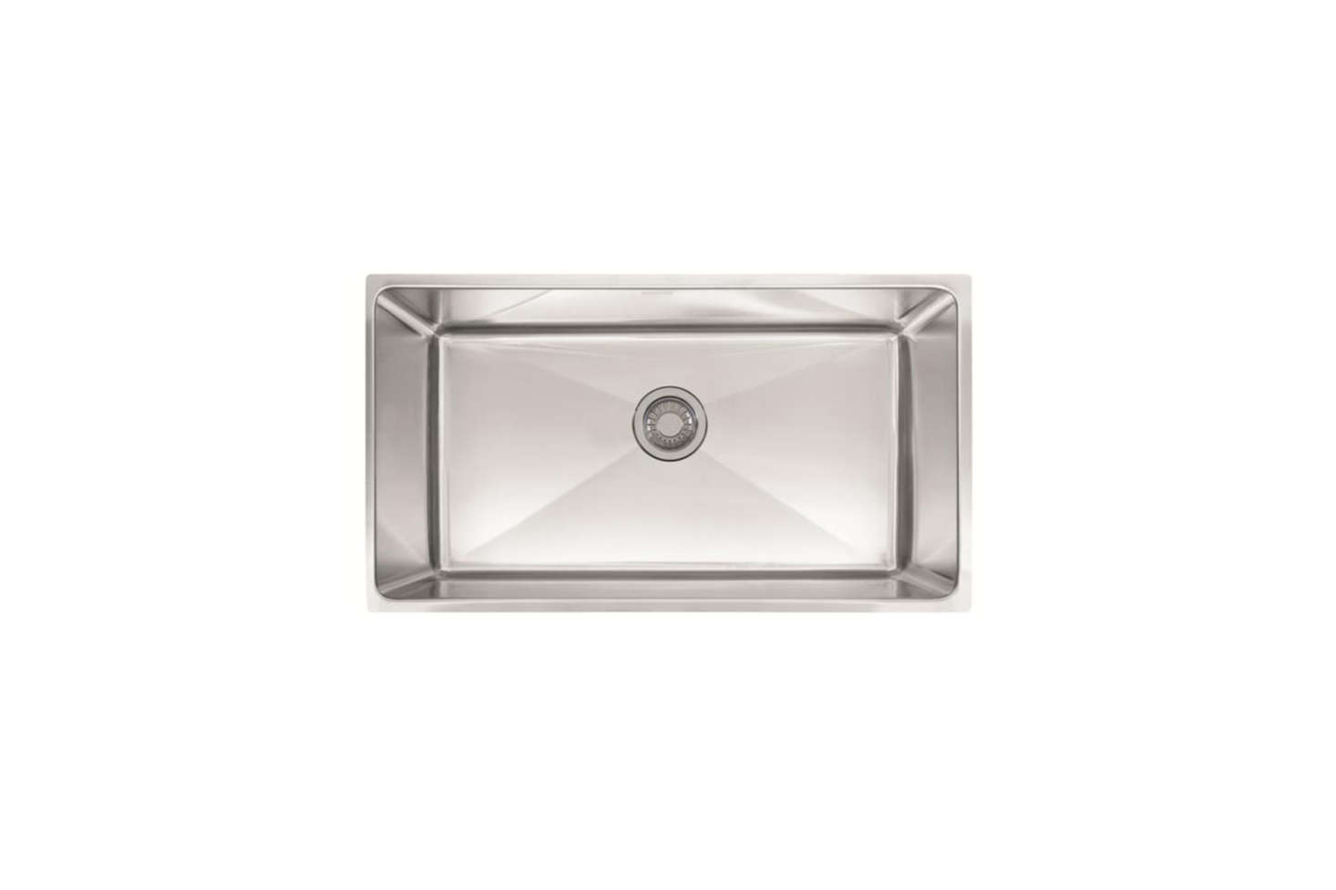For a deep-set stainless steel sink, the Franke Professional Series 34-Inch Undermount Single Bowl Stainless Steel Sink is $src=