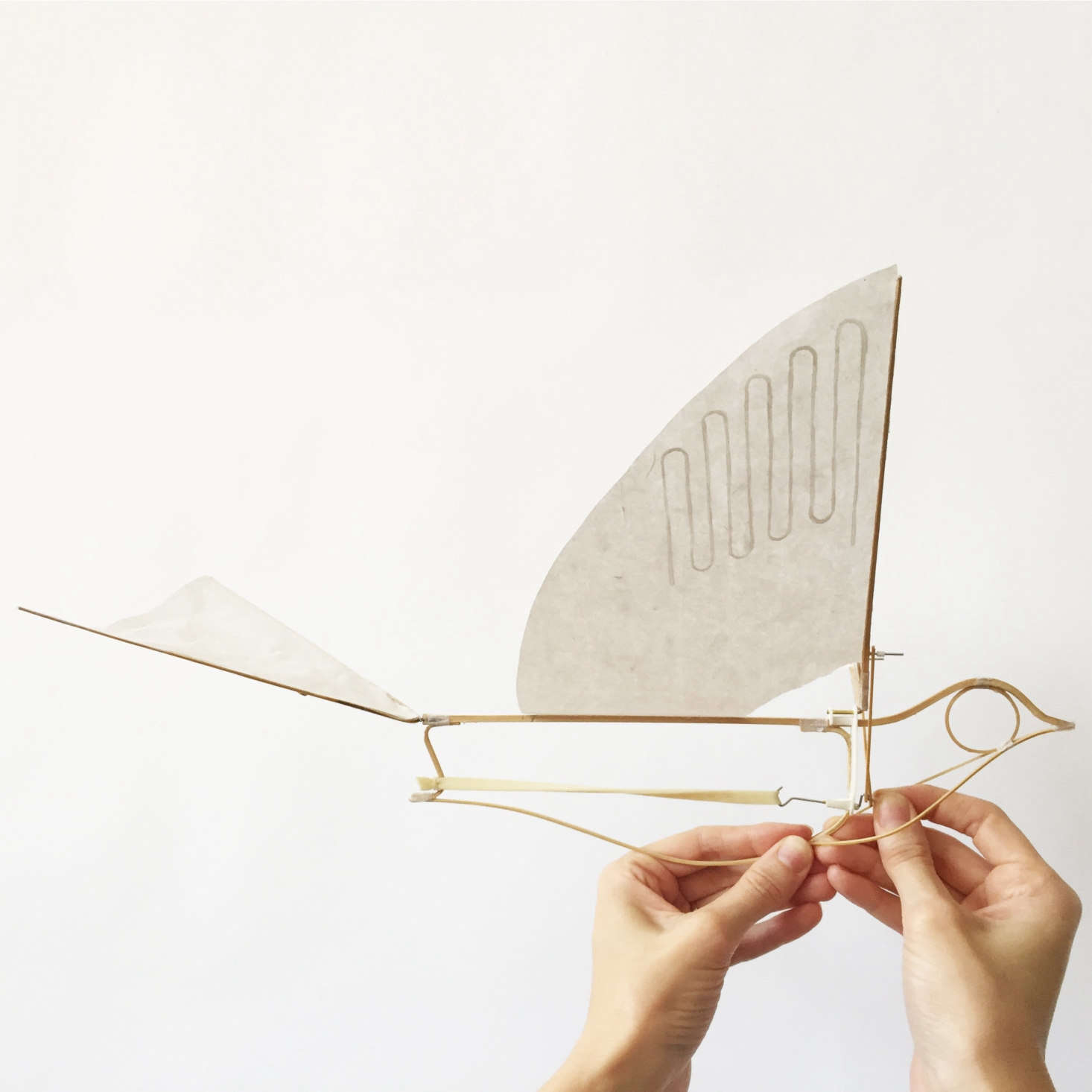 """Margot likesHaptic Lab's Flying Martha Ornithopter, """"a bamboo bird that's launched like a paper airplane. Who wouldn't want that?"""" she asks. It's made of bamboo and mulberry paper, launched with a rubber band. It's $48 and comes packed in a gift box."""