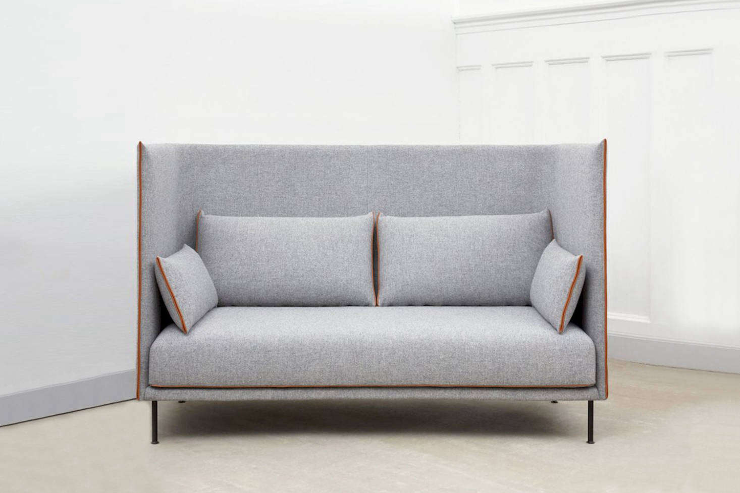 Attirant The HAY Silhouette High Backed Sofa Is Made With A Fiberglass Shell And Oak  Frame And