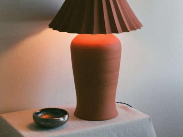 Stone Lamp Terra Cotta
