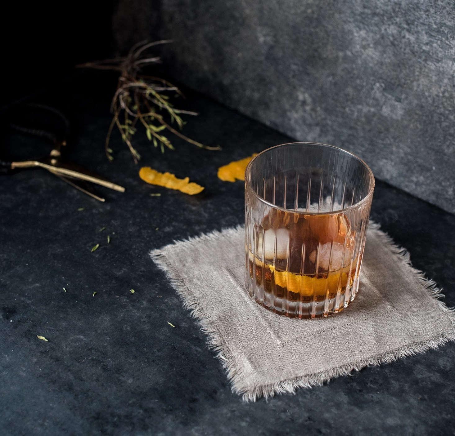 """We like these linenCocktail Napkins from Marin, California–based Rough Linen. """"This is just about the only thing I iron—because they look so crisp and seemly when I do,"""" says Tricia Rose. A set of 12 napkins is $40."""