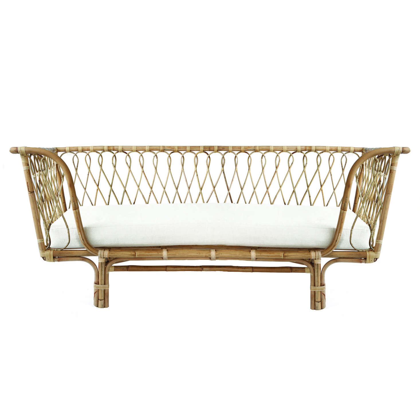 The St. Elmo, $899 AUD, mattress included, is but one of many rattan daybeds and settees available from The Rattan Collective of Byron Bay, Australia (international shipping is currently not available but the company is looking into partnering with a US retailer).