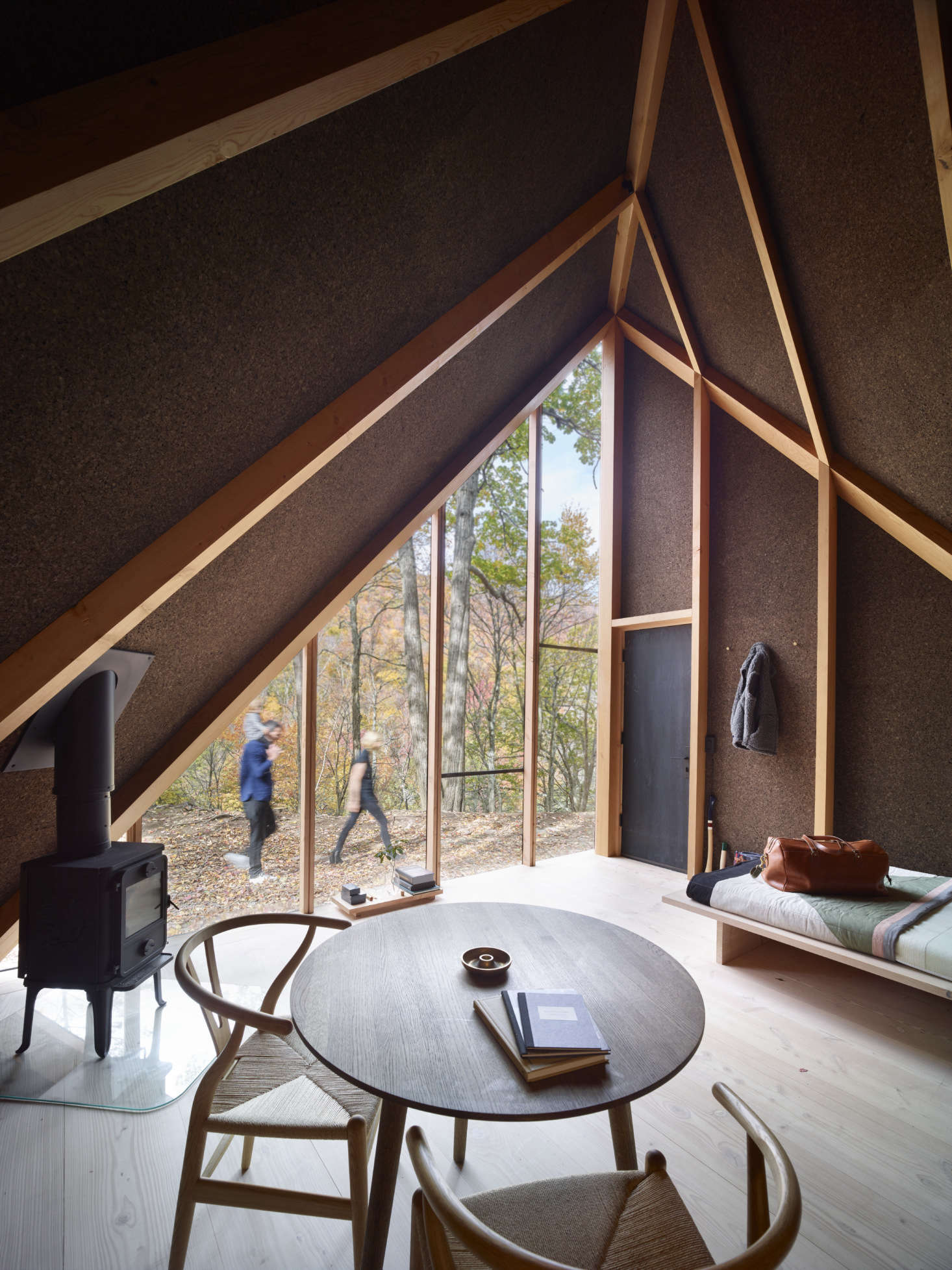 The interior is 0 square feet but feels larger thanks to the -foot ceiling. The structure is designed to operate off the grid and is heated by aMorsø woodstove (for sourcing, see  Easy Pieces).