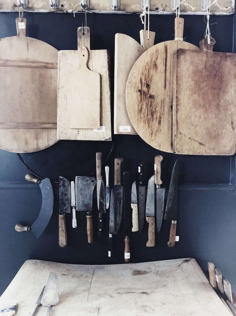 Vintage culinary implements.
