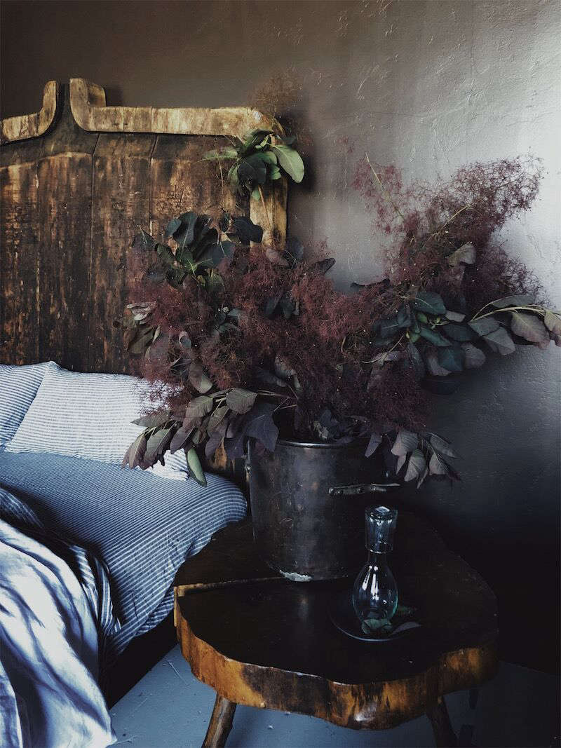 Elsie Green also offers a collection of bed linens and accessories for the bedroom. (Note the smoke bush arrangement; see our postDIY Floral Arrangement: Smoke Bush and Queen Anne's Lace on Gardenista for a bouquet by Sophie Moreno-Bunge).