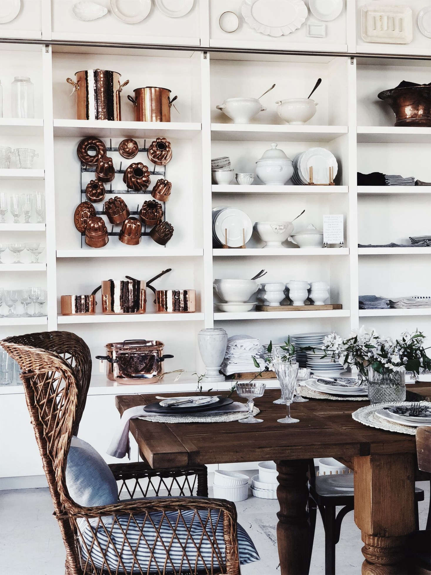 Elsie Green specializes in classic white French crockery.