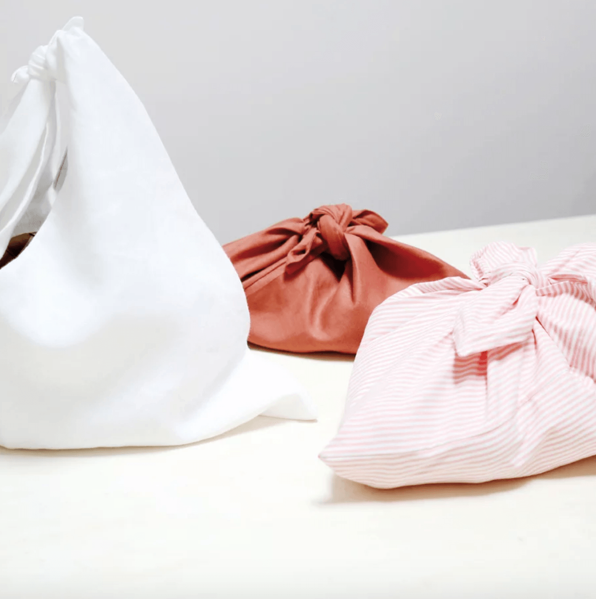 ClothKnot Bags (orbaluchons)are made in France by a textile artist and are an all-purpose alternative to plastic, for carrying and preserving bread, fruits, vegetables, herbs, and more. (&#8