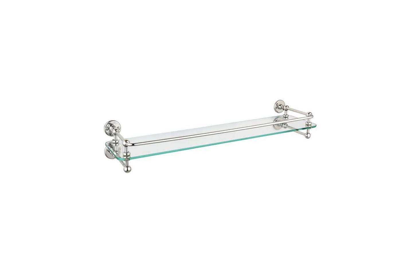 The Drummonds Single Glass Shelf is $4 at Drummonds. Other options are theRockwell Glass Shelf with Lifting Rail from the Water Monopoly (£44