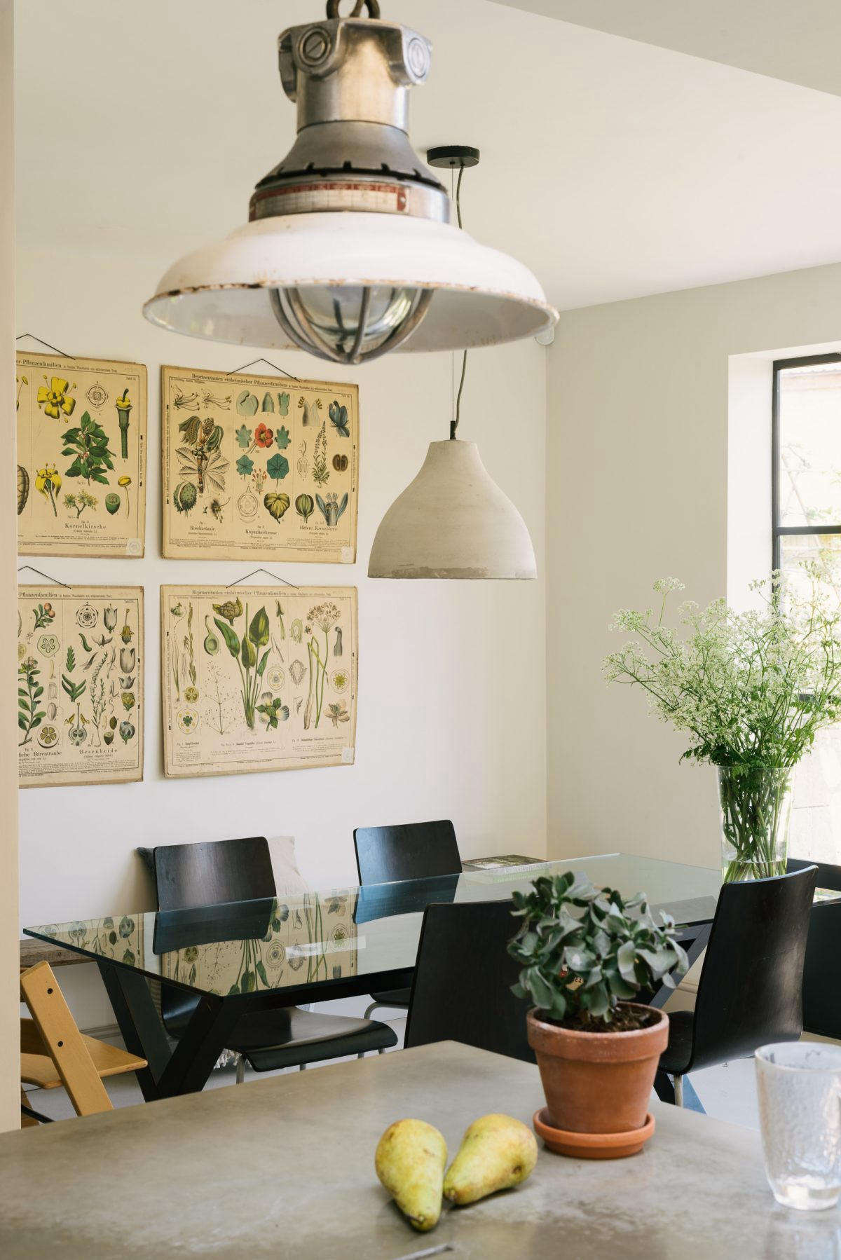 Hannah purchased the glass-topped dining table from the Conran Shop for her first flat in London  years ago; it&#8