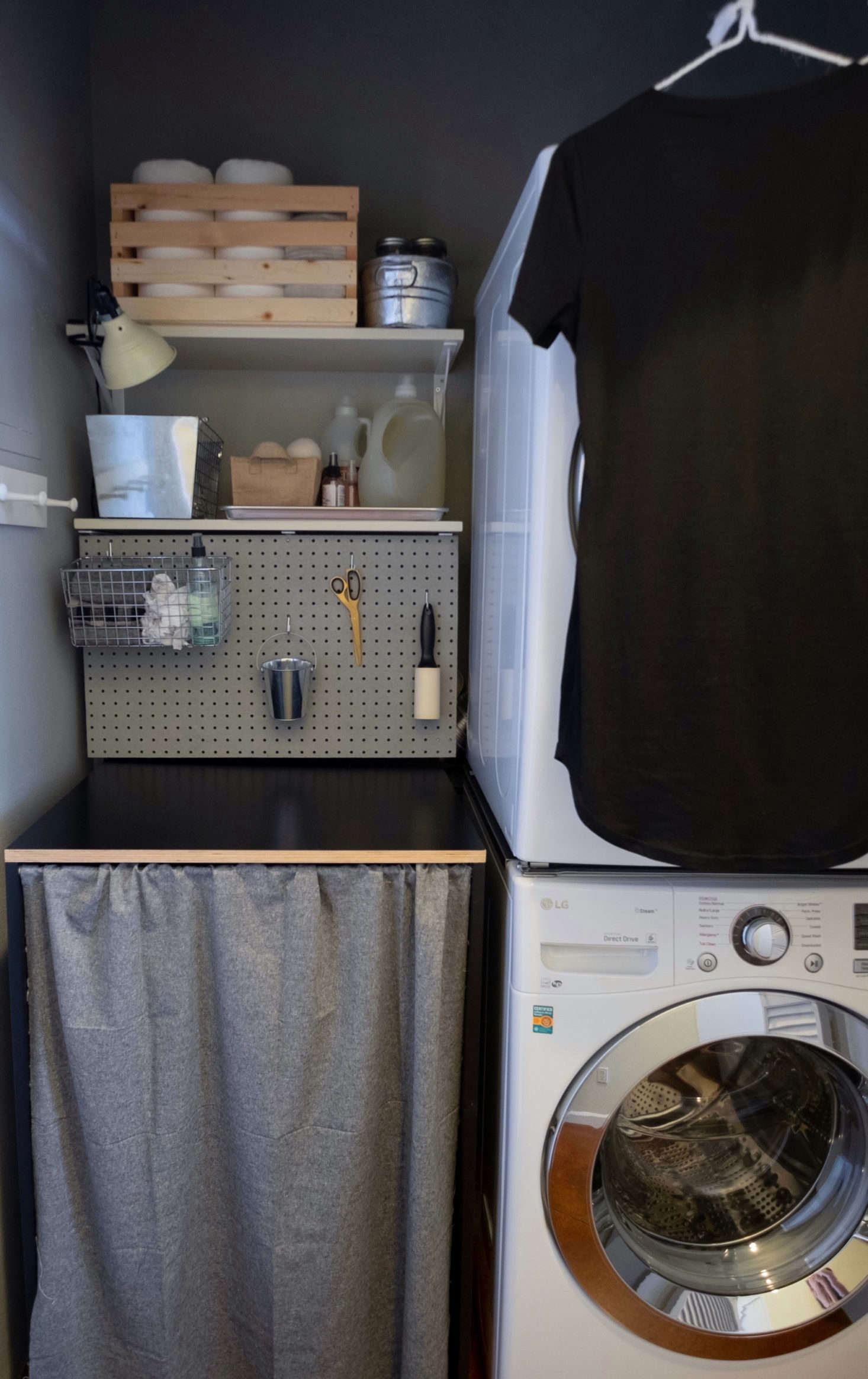 Meredith took the DIY route with the overhaul, and started by painting over the closet&#8