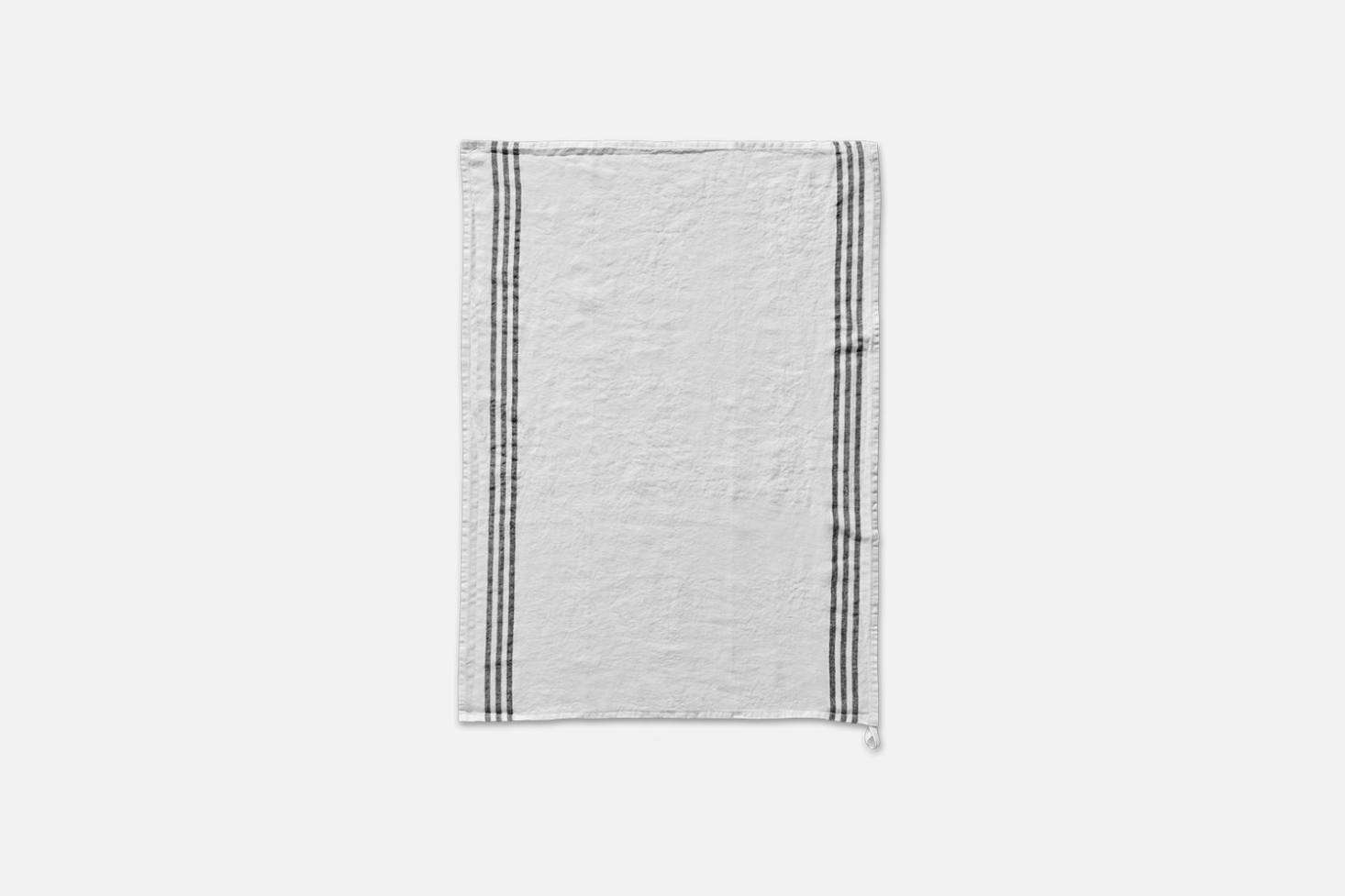 From Merci, the Off White Striped Pre-Washed Linen Tea Towel is $