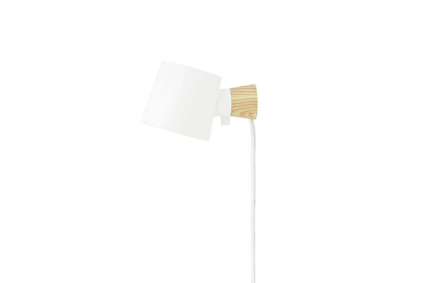 The Normann Copenhagen Rise Wall Lamp in White with an EU plug is $120 from Normann Copenhagen. It also comes in a range of colors from gray to green and yellow.