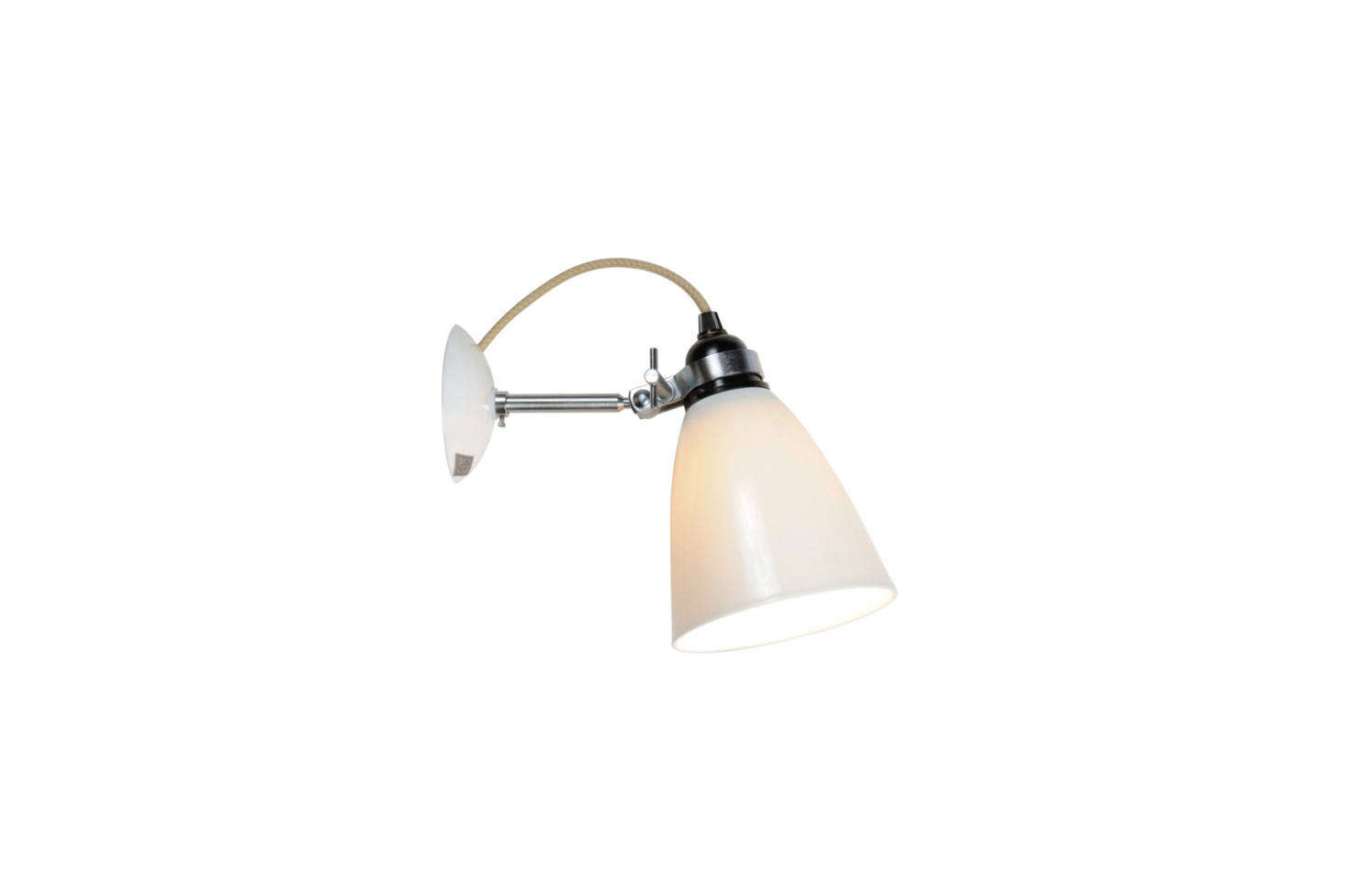 The Original BTC Hector Medium Dome Wall Light in bone white china can be found for under $200 at various retailers, including the Conran Shop for £125.
