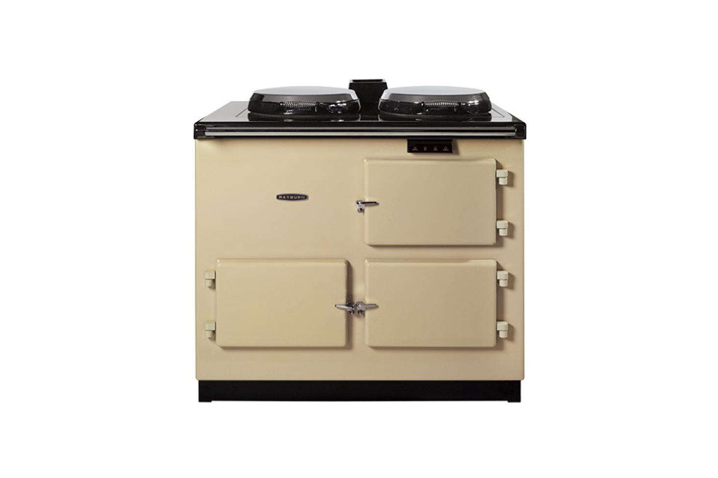 Rayburn Cookers are made in the UK of 70 percent recycled material and come in different models including an oil-fired cooker, central heating, wood-burning, and gas cooker. They're available through Walter Dix & Co.