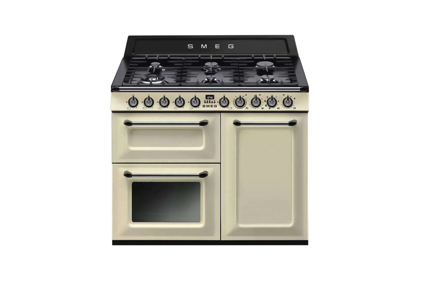 Smeg's Victoria Cooker, shown in cream, is the company's offering of retro-style ranges. The cookers come in different sizes with several options for oven type and finish available through Smeg.