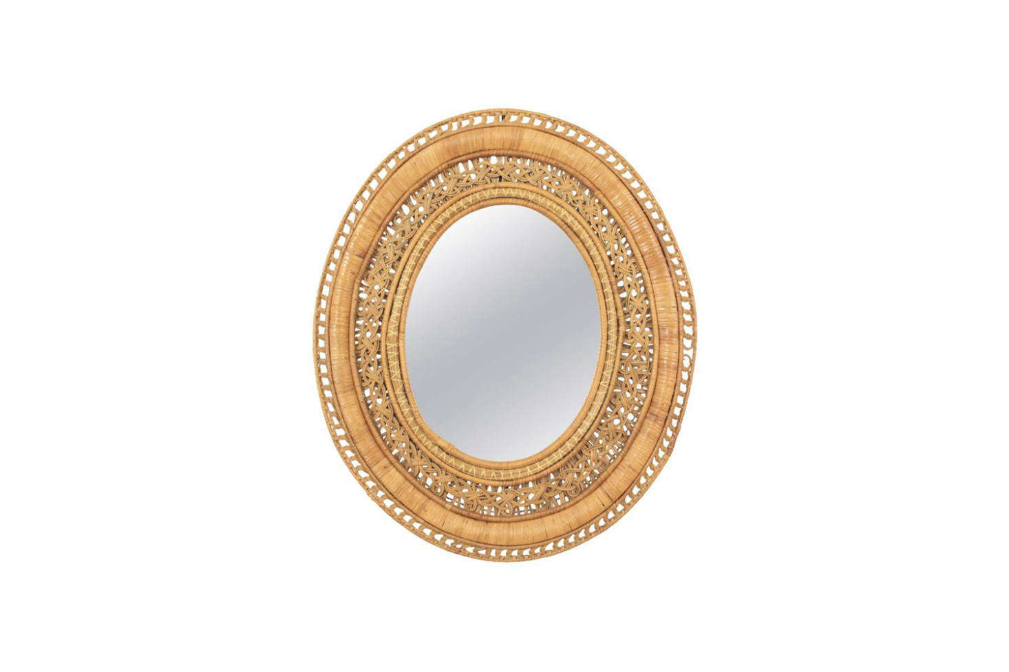 Source a Vintage 60s French Large Rattan Mirror from src=