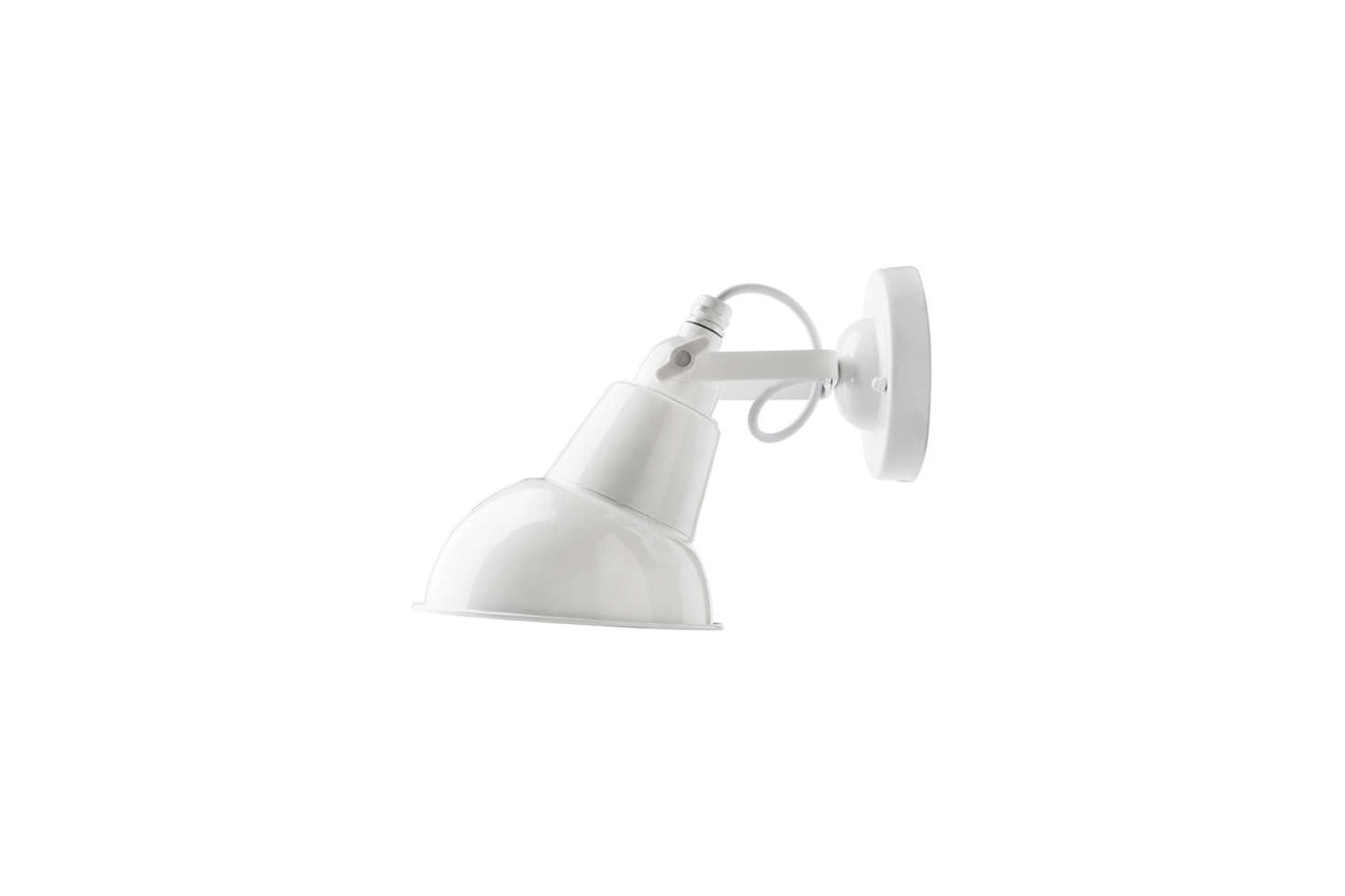 Another affordable design from Zangra, the White Steel Wall Lamp with a metal shade, is €43 at Zangra.