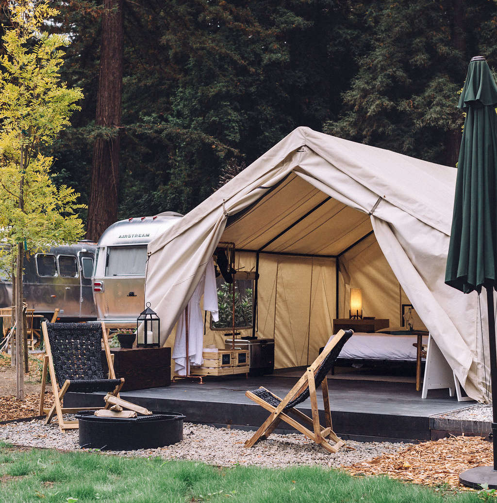 In the months of May through October, guests can opt to stay in one of  luxury tents.