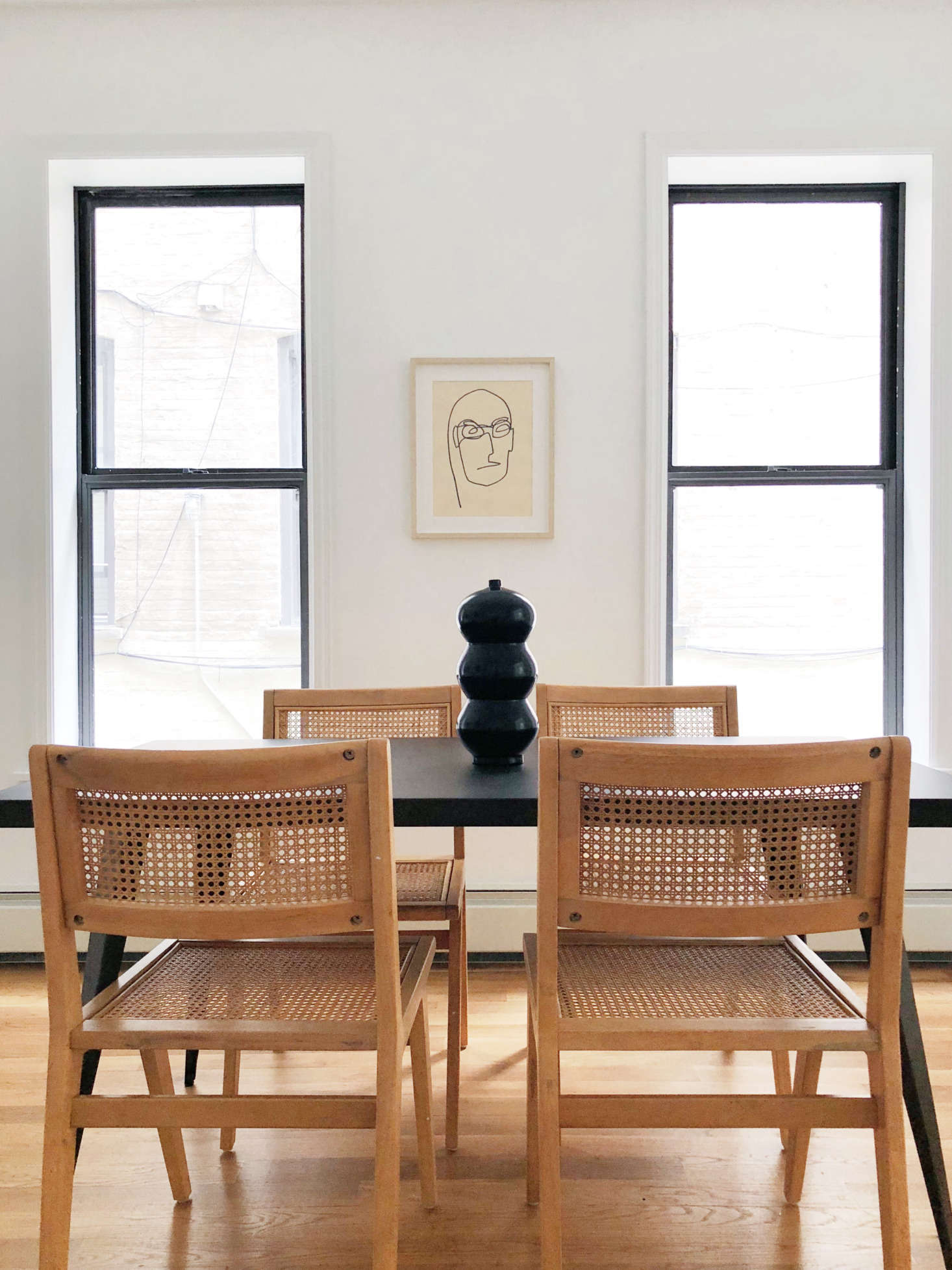 Hovey Design staging dining room Williamsburg condo development.