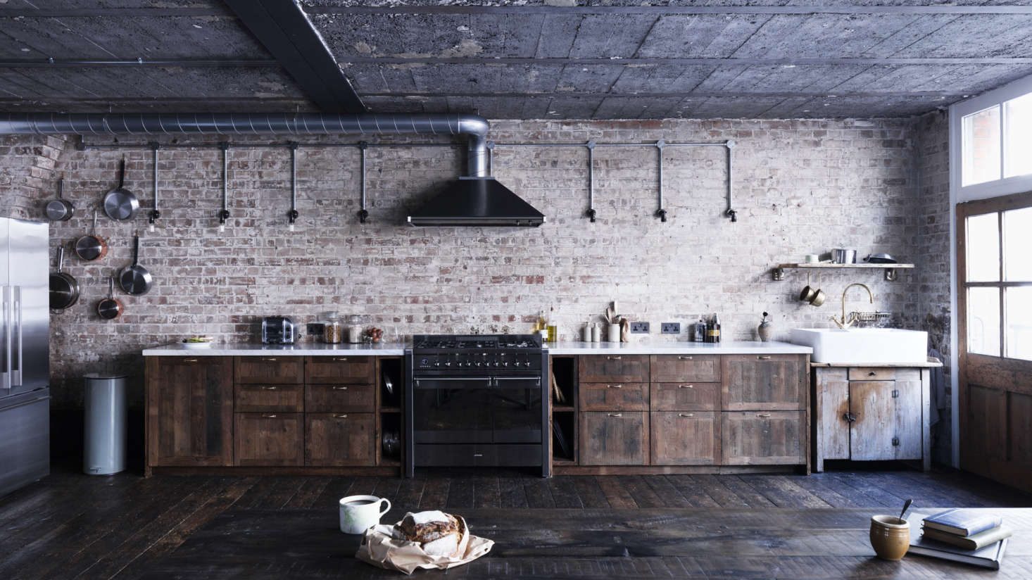 Most of us are familiar with standard rectangular, red bricks, which add an industrial-rustic look in interiors. For more modern installations, brick also comes in several shapes and colors.