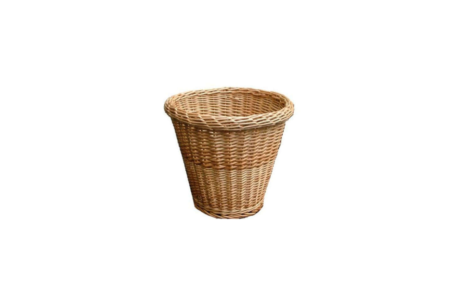 A simple Round Wicker Waste Paper Bin is £12 at the Basket Company.