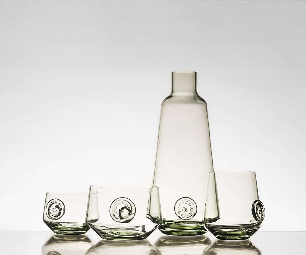 The ZandGlas #3 set is made fromsand collected from Nationaal Park de Loonse en Drunense Duinen; the set, €560 from Atelier NL, is currently sold out, but you could buy each piece individually, starting at €86 for the small glass.