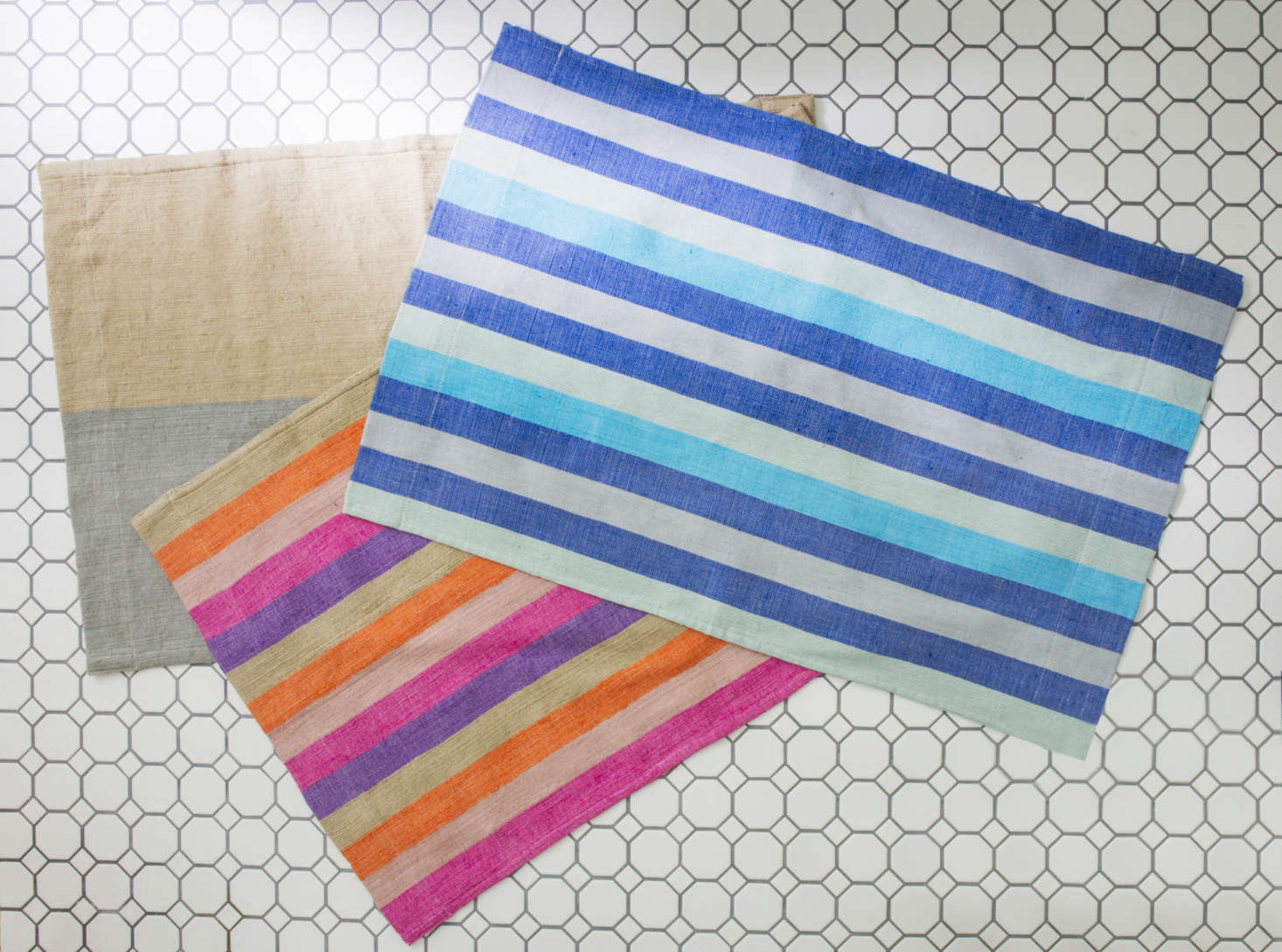 New bath mats in the same colorways as the Omo Valley Collection.
