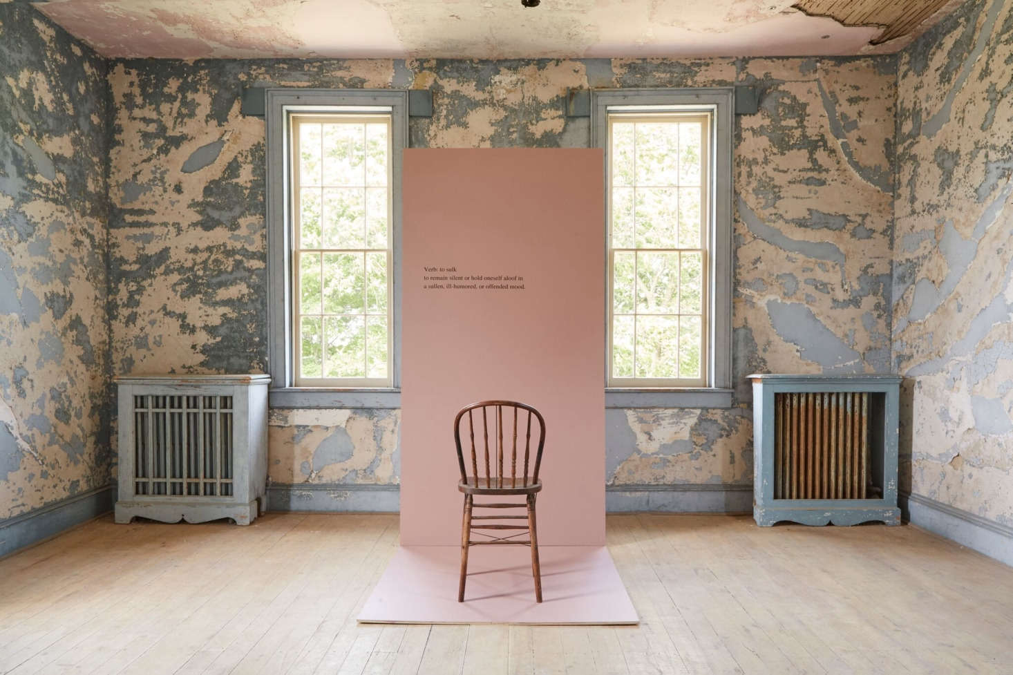 """According to Farrow & Ball, """"Sulking Room Pinkis a romantic and muted rose with enormous warmth, its powdery feel makes it incredibly soft and easy to use with complementary tones. It's evocative of the colors so often used in boudoirs, a room named after the French 'bouder'—to sulk."""""""