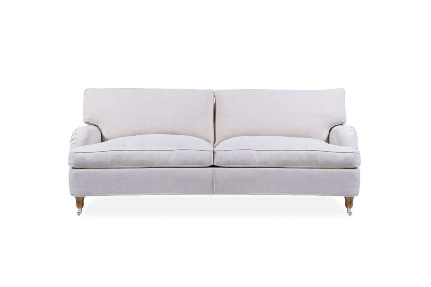 The Fogia Howards Edward Sofa is designed by Håkan Urdell in solid beach with Bonell springs and a foam and feather cushion. It's $6,213.50 at Danish Design Store.