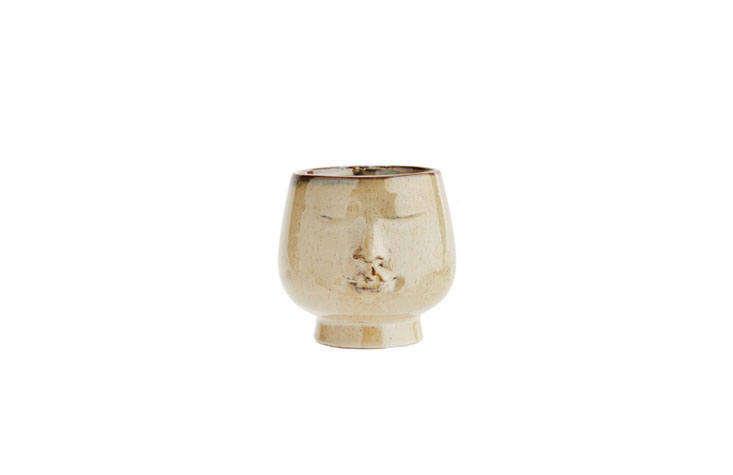The Glazed Ceramic Peaceful Face Flower Pot, also by Rockett St. George, is a more demure option; £14 from Liberty London.