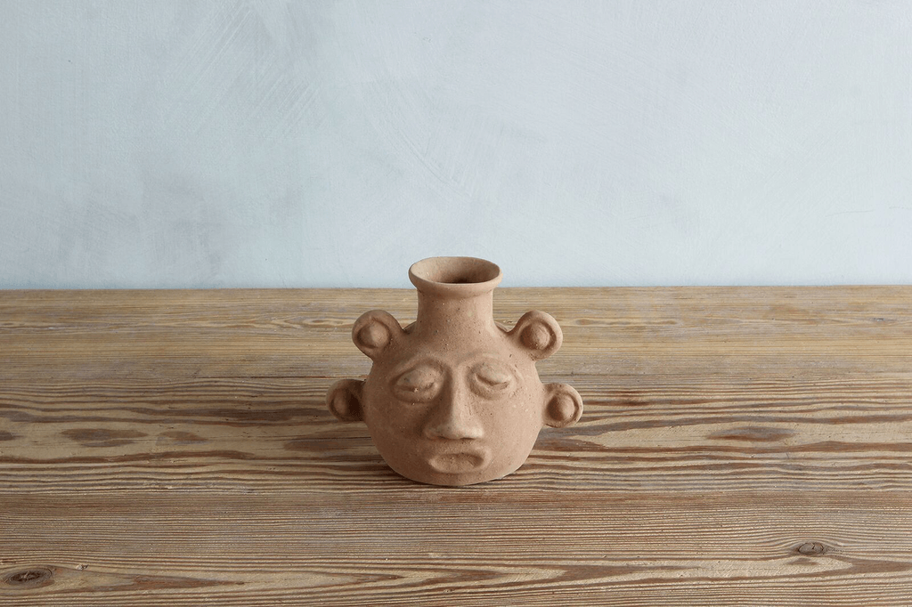 """Another offering by La Soufflerie: the Terre Cuite Incas Head, """"inspired by the strong minimal forms found in South American ancient art;"""" $74 from Nickey Kehoe."""