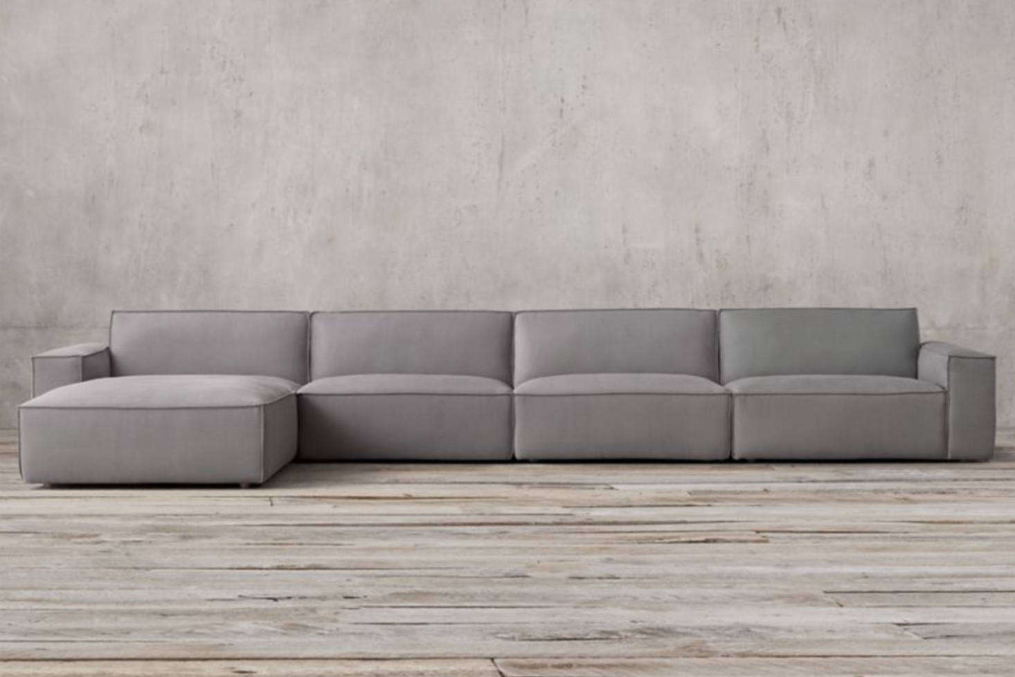 Even Restoration Hardware Jumped On The Clunky Modular Sofa Bandwagon With Their Como Sectional