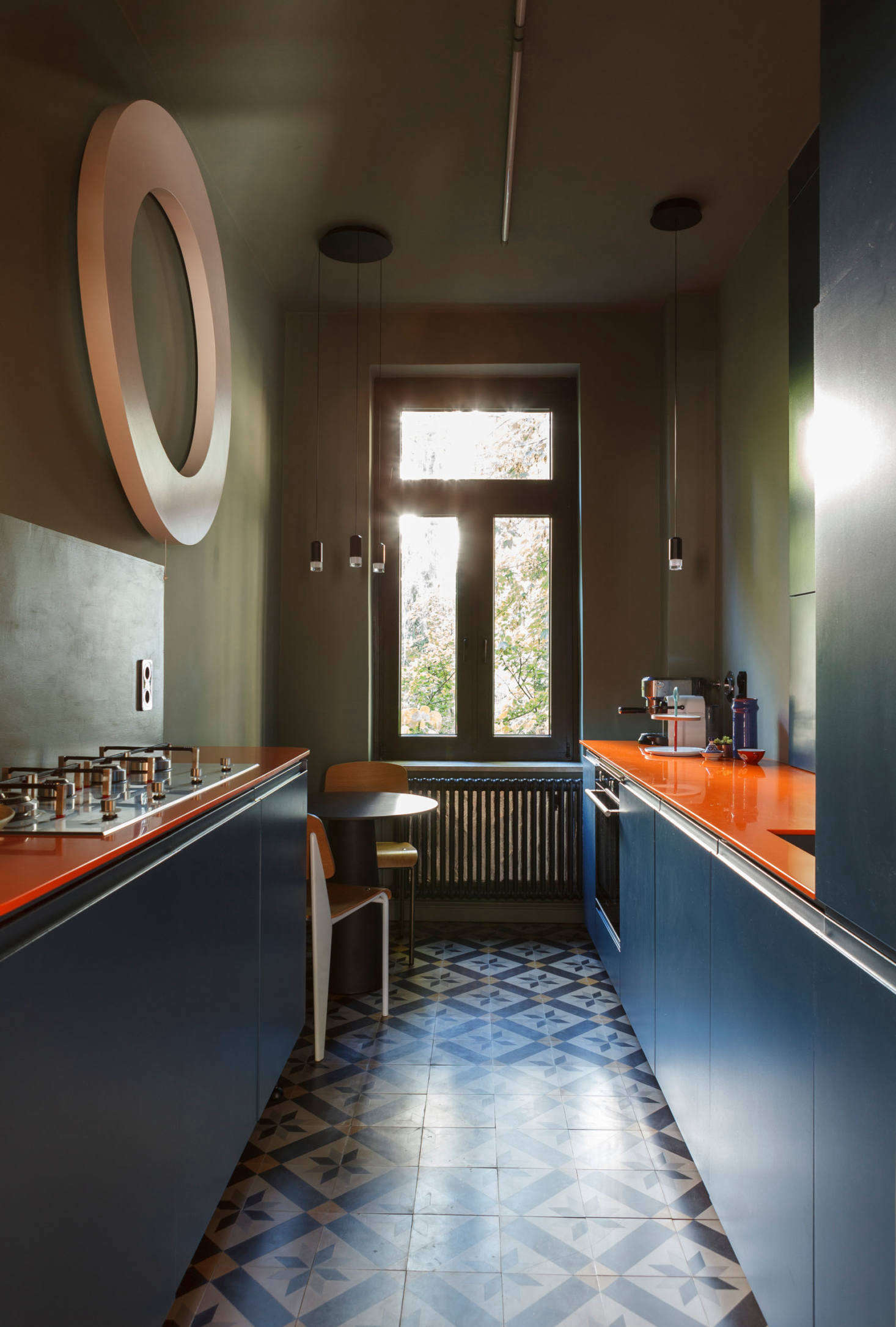 kitchen of the week a forgotten kitchen in frankfurt germany gets a colorful overhaul. Black Bedroom Furniture Sets. Home Design Ideas